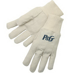 Canvas Gloves with Natural Knit Wrist