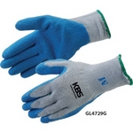 Blue Textured Latex Palm Coated Gloves