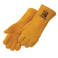 Bourbon Brown Leather Welder Gloves