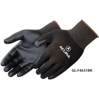 Ultra-thin nitrile foam palm coated knit gloves