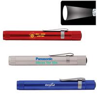 Pen Size Focus Lens LED Flashlight with Clip