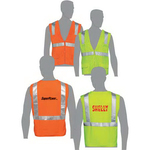 Class 2 compliant solid fabric surveyor's vest