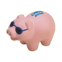 Pig with Glasses Shaped Stress Reliever