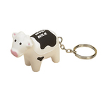 Cow Shaped Stress Reliever Key Tag