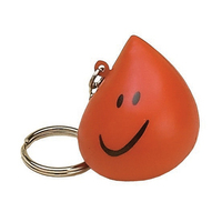 Droplet Shaped Stress Reliever Key Tag