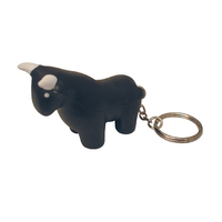 Fighting Bull Shaped Stress Reliever Key Tag