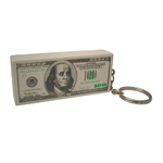 Hundred Dollar Stack Shaped Stress Reliever Key Tag