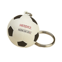 Soccer Ball Shaped Stress Reliever Key Tag