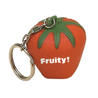 Strawberry Shaped Stress Reliever Key Tag