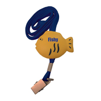 Lanyard with an Attached Fish Shape and Clip