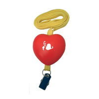 Lanyard with an Attached Heart Shape and Clip