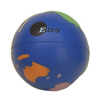 Multi Colored Globe Shaped Stress Reliever