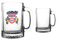 Clear glass sport mug with handle Spot Color