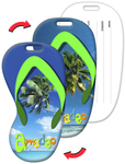 Luggage Tag with Custom, Flip-Flop Shaped