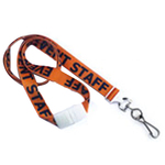 """5/8"""" Pre-Printed """"Event Saff"""" Lanyard with Swivel Hook"""