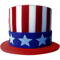 Foam Uncle Sam Top Hat
