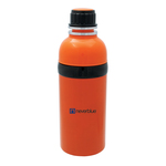 Colored stainless steel and plastic bottle