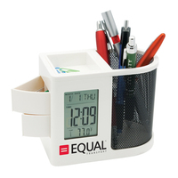 Pen Holder and Clock