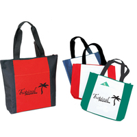 Two -Tone Zippered Tote