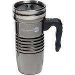 16 oz Black Chrome Retro Travel Mug