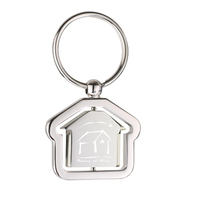 Spinning House Keychain
