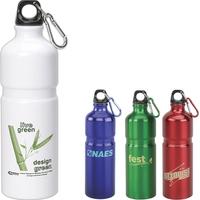 27 oz aluminum water bottle with ridge