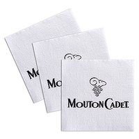 Custom Luncheon Semi Crepe 1 Ply Napkin with Lined Pattern