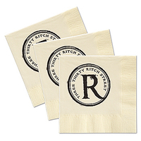 Custom Ecru Beverage Facial 3 Ply Napkin