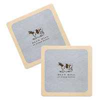 35-40 point White Pulpboard Mat Coaster - Offset