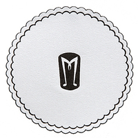 "3-3/8"" Round, Mu-Ply Cellulose Coaster W/ Poly-seal Backing"