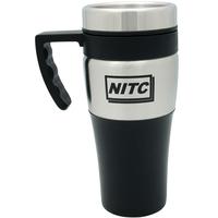 Silver accent thermal mug - 14 oz