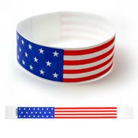 "Tyvek® 1"" Design American Flag Wristband"