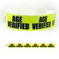"Tyvek® 3/4"" Design Age Verified Wristband"