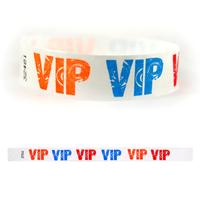 "Tyvek® 3/4"" Design VIP Multi-Color Wristband"