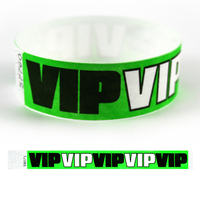 "Tyvek (R) 1"" Design VIP Green Wristband"