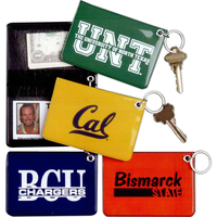 Oversized Padded Pass Case Key Ring with Velcro Closure