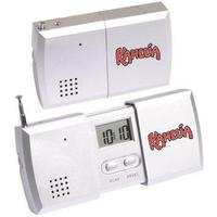 Pull-apart FM scan radio alarm clock