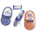 "Liquid-filled ""floater"" calculator/clock/calendar"