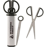 Stainless steel letter opener and scissors desk set