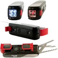 12-in-1 camping multi-tool with self-storing binoculars