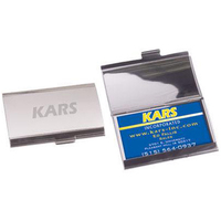 Horizontal business card holder-brushed/polished aluminum