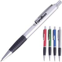 Aluminum contour-grip ballpoint pen