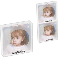 "3"" x 3"" Acrylic magnetic stacking photo frame"