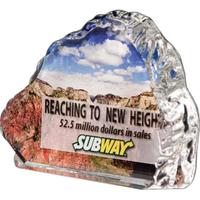 Full-color lead crystal wave iceberg award