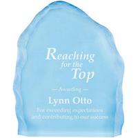Large acrylic blue iceberg award