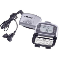 FM scan radio with 5-function pedometer