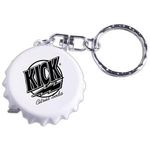Bottle cap-shaped tape measure key ring