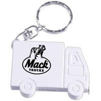 Truck shaped tape measure keychain