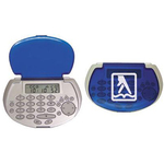 Pocket databank calculator with fold-over cover