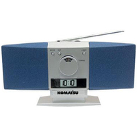 "AM/FM ""Butterfly"" desk radio with alarm clock"